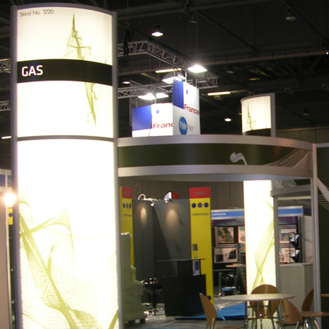 TMS Exhibition Accessories: Column Lighting
